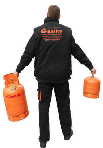 Nošenje plinskih boca dostava plina
