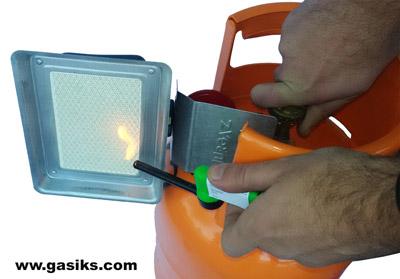 Instalacija plinske grejalice na bocu od 5 ili 10 kg