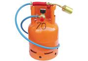 profesionalan komplet: plinski brener, plinska boca od 5kg, crevo za tng, regulator visokog pritiska