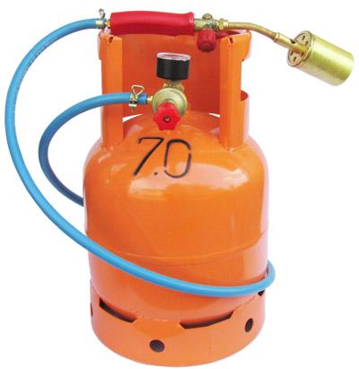 Profesionalni komplet: Plinski brener, regulator pritiska i plinska boca